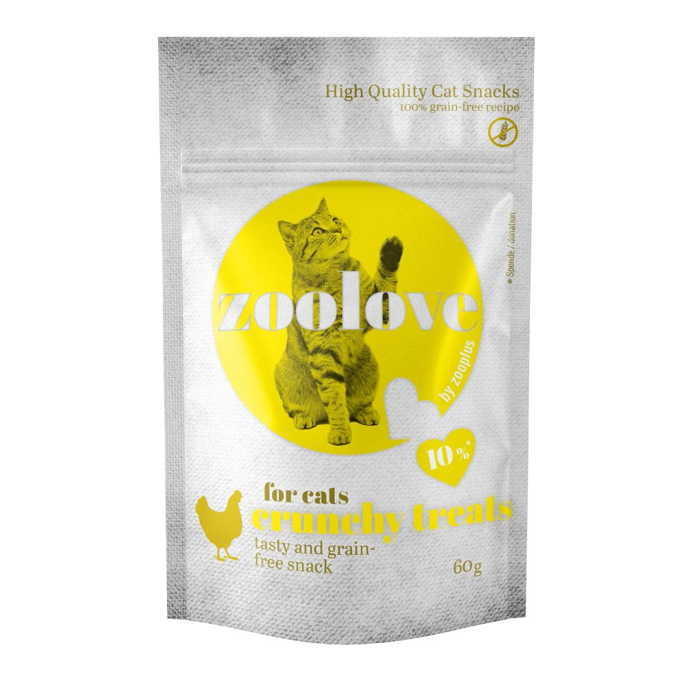 Chicken Crunchy Treats zoolove Cat Snacks