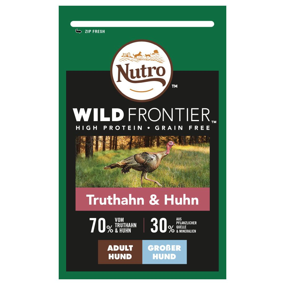 Nutro Wild Frontier Adult Large Turkey & Chicken - Ekonomipack: 2 x 12 kg