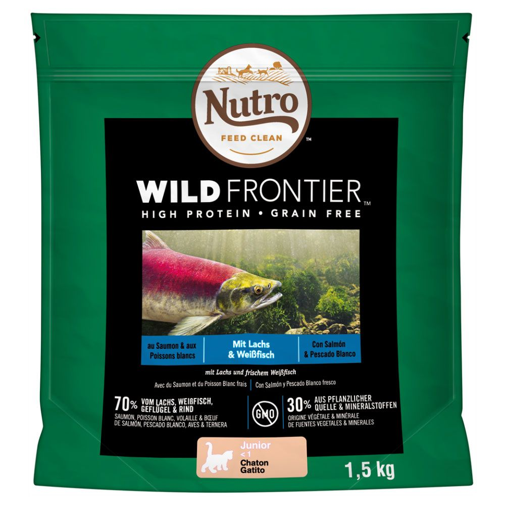 Nutro Wild Frontier Kitten Salmon & Whitefish Dry Cat Food