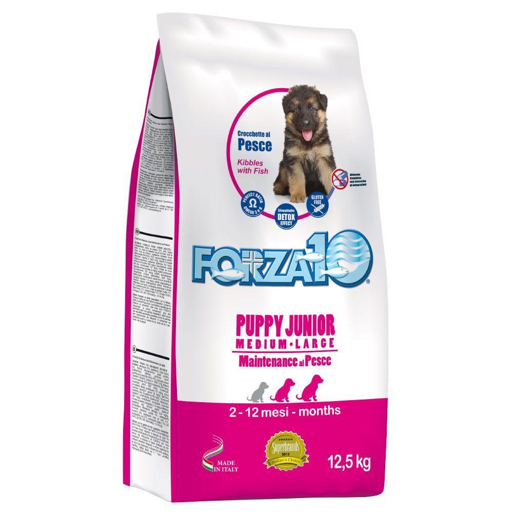 12,5kg Puppy Junior Forza10 Poisson Croquettes pour chiot