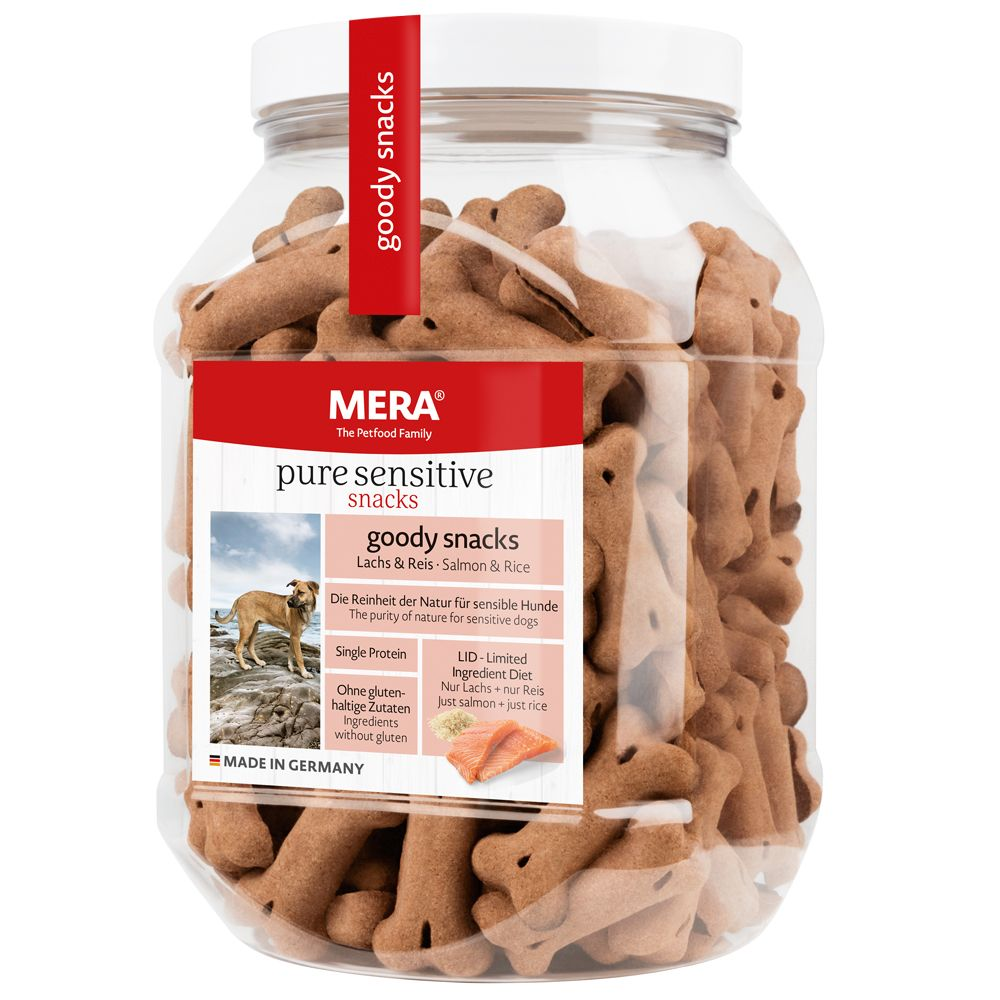 600g Goody Snacks dinde, pommes de terre sans céréales MERA pure sensitive - Friandise pour chien
