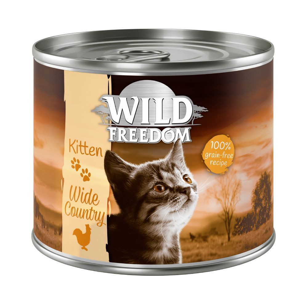Wild Freedom Kitten 6 x 200 g - Wide Country - Veal & Chicken