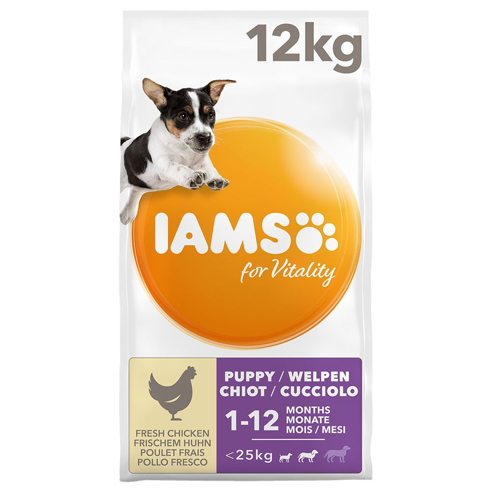 IAMS for Vitality Puppy & Junior Small/Medium Chicken Dry Dog Food