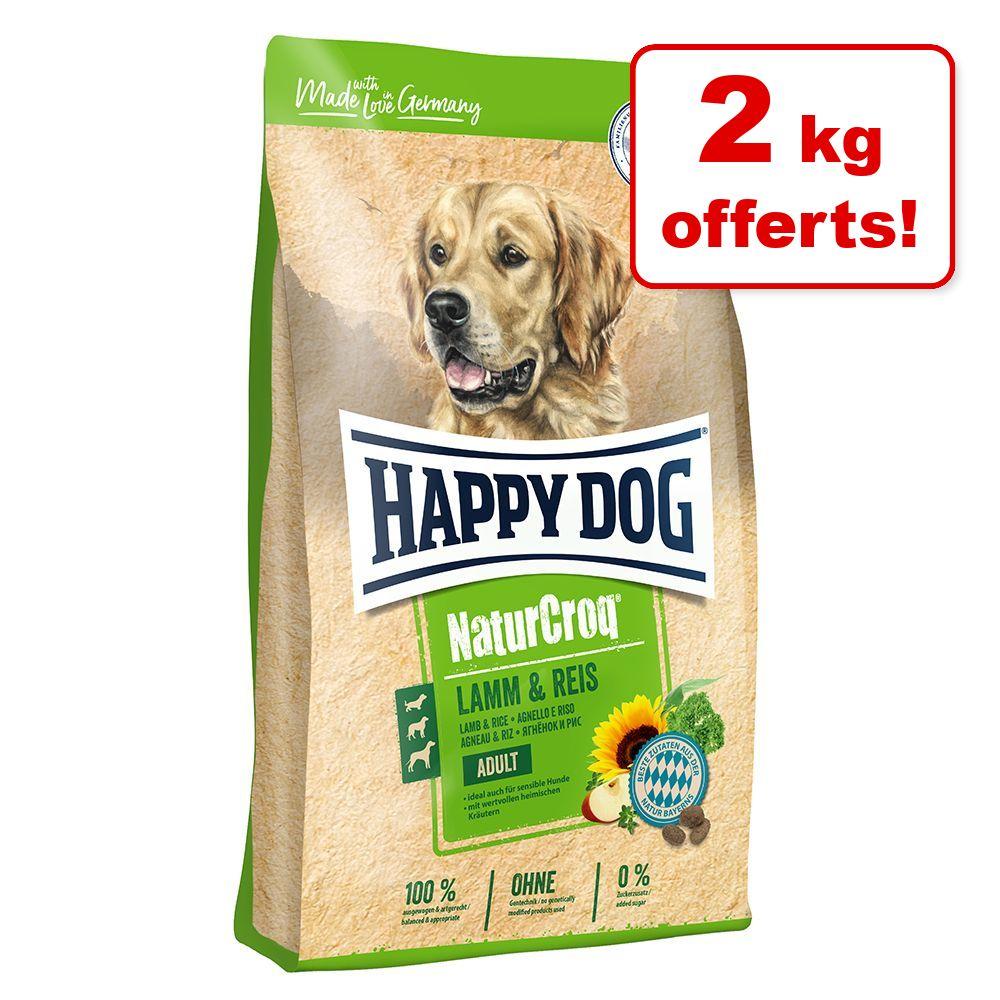 Croquettes Happy Dog NaturCroq 13 kg + 2 kg offerts ! - agneau, riz