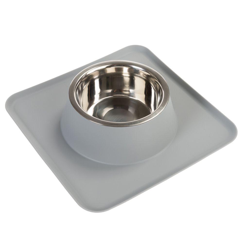 Silikonskålunderlägg med en rostfri skål - 750 ml, L 30 x B 30 cm x H 6,7 cm