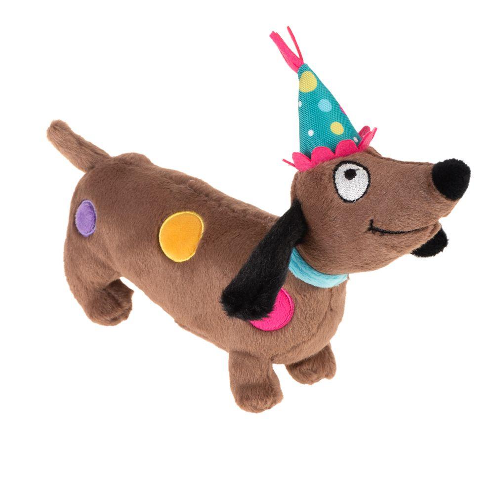 Cão aniversariante de peluche para cães  - 1 unidade