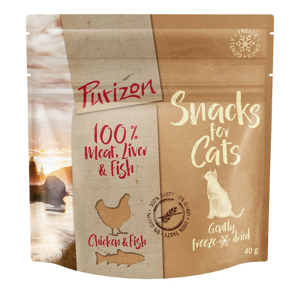 3x40g Chicken & Fish Grain-free Purizon Cat Snacks