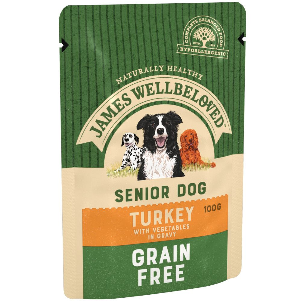 Senior Turkey & Vegetables Grain Free James Wellbeloved Wet Dog Food
