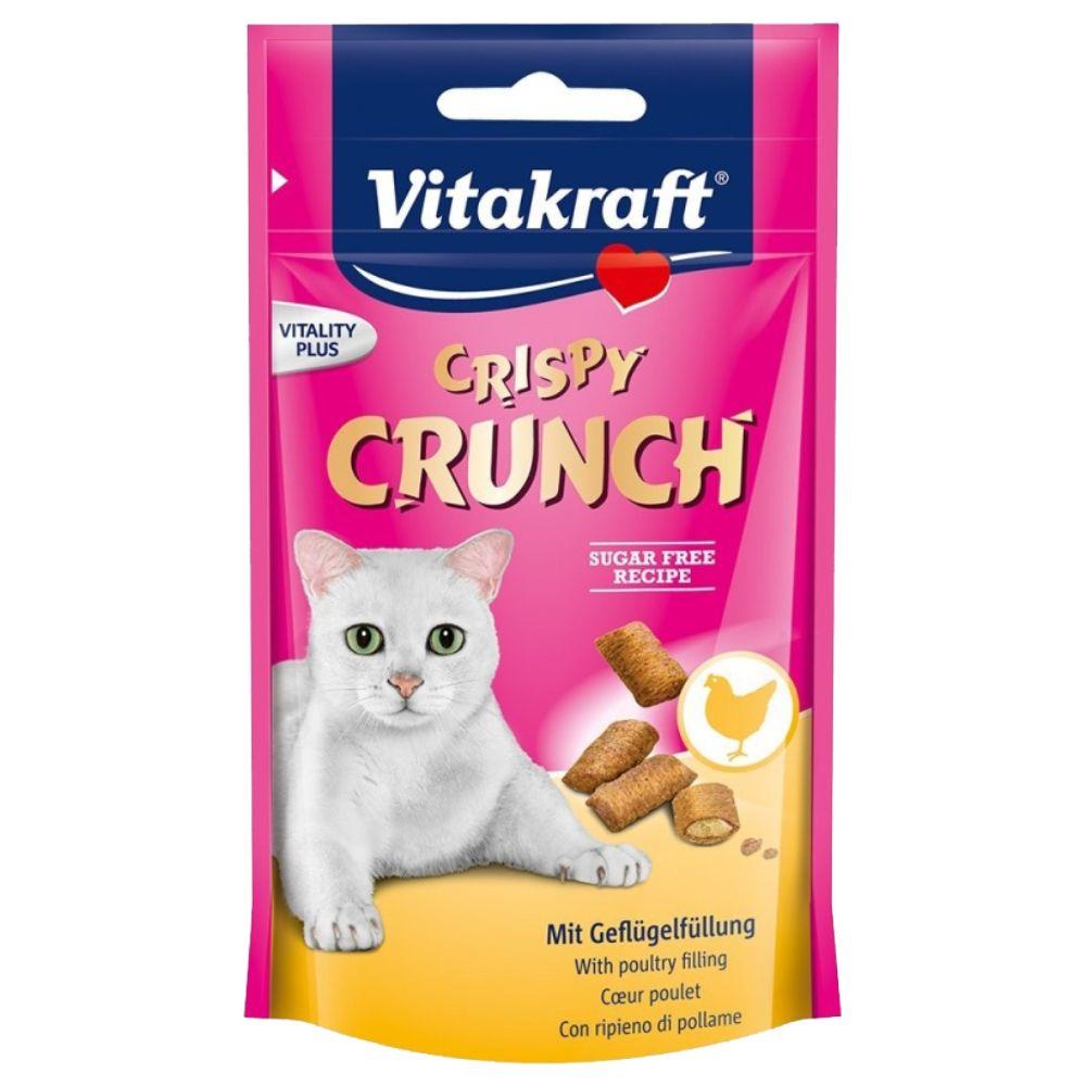 Vitakraft Crispy Crunch - Ekonomipack: Hönskött 6 x 60 g