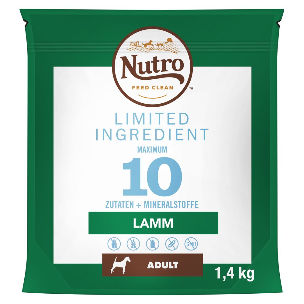 Nutro Dog Limited Ingredients Adult Lamb - Ekonomipack: 2 x 11,5