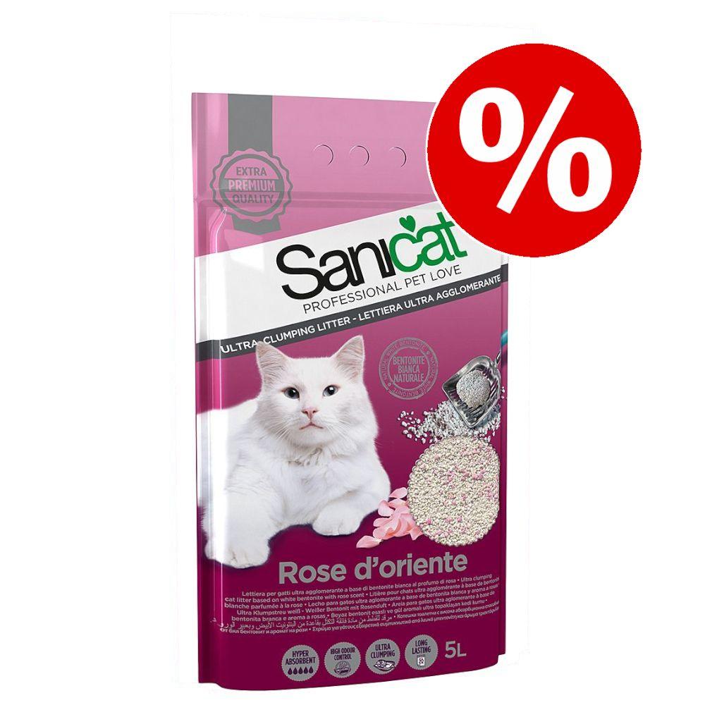 Sanicat klumpbildande kattströ till sparpris! - 6 l Active White Lotus Flower kattströ