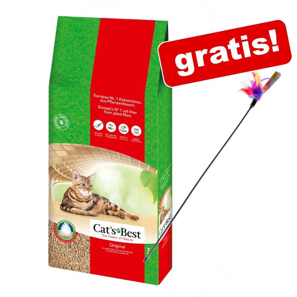 40 l Cat's Best Original Katzenstreu + Federwedel gratis! - 40 l (ca. 17,2 kg)