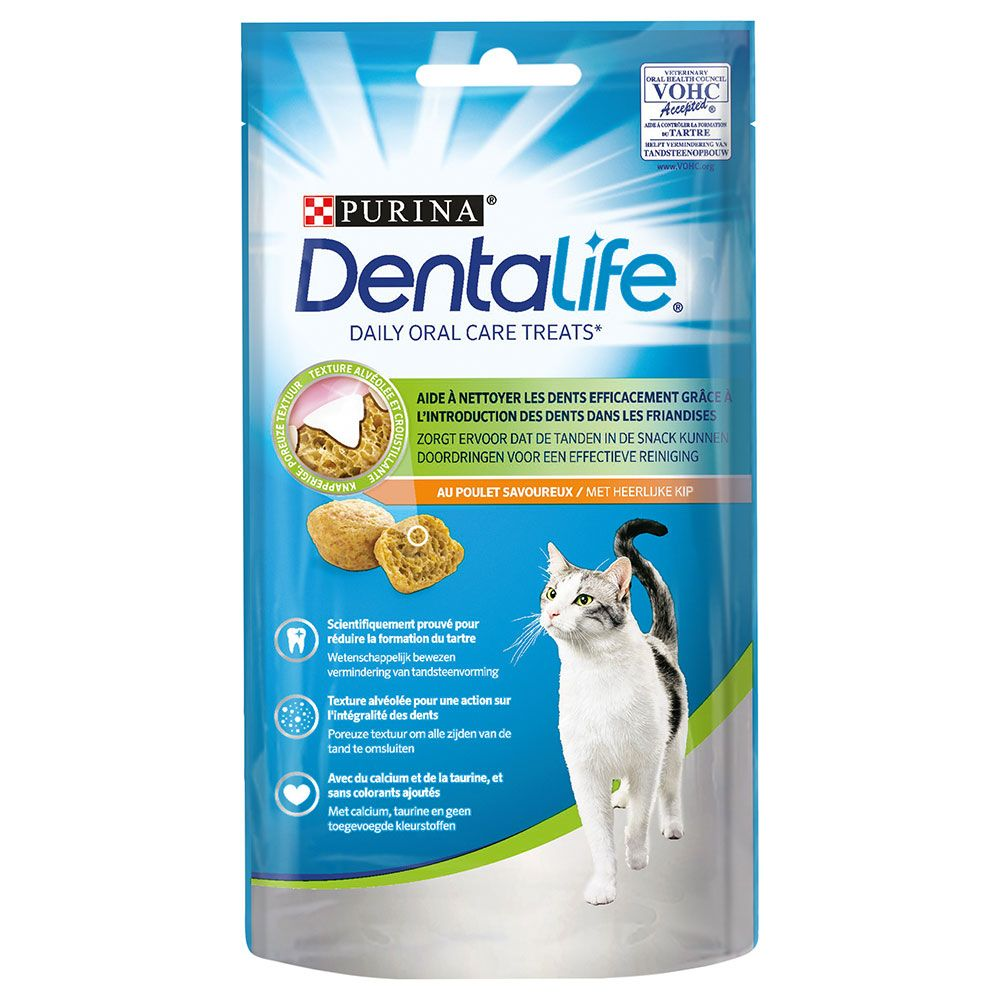 8 x 40g Purina Dentalife Cat Snacks + Felix Goody Bag Treats - 15% Off!* - Purina Dentalife Salmon (8 x 40g) + Felix Mixed Grill (60g)
