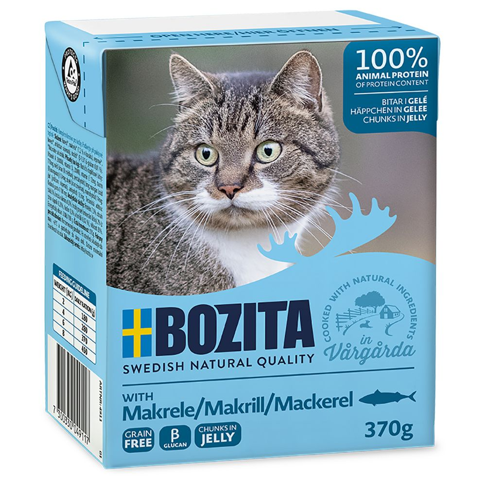Click to view product details and reviews for Bozita Chunks In Jelly Mega Pack 36 X 370g Mackerel.
