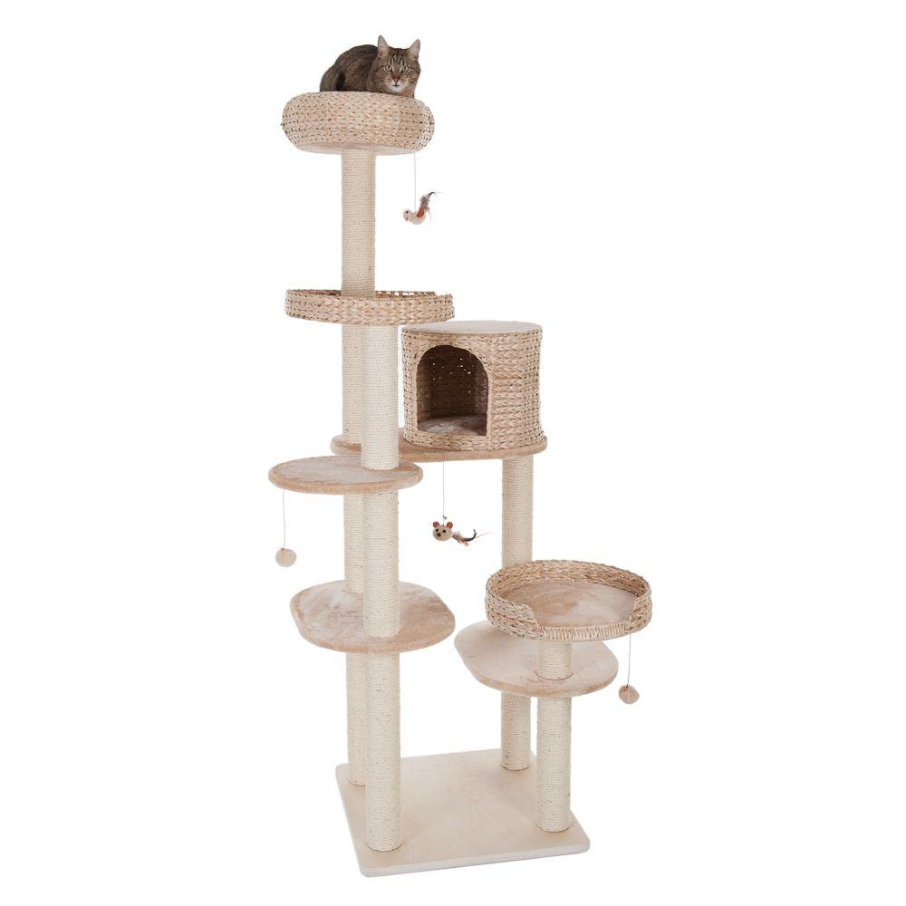 Natural Home IV drapak dla kota - Dł. x szer. x wys.: 60 x 57 x 192 cm