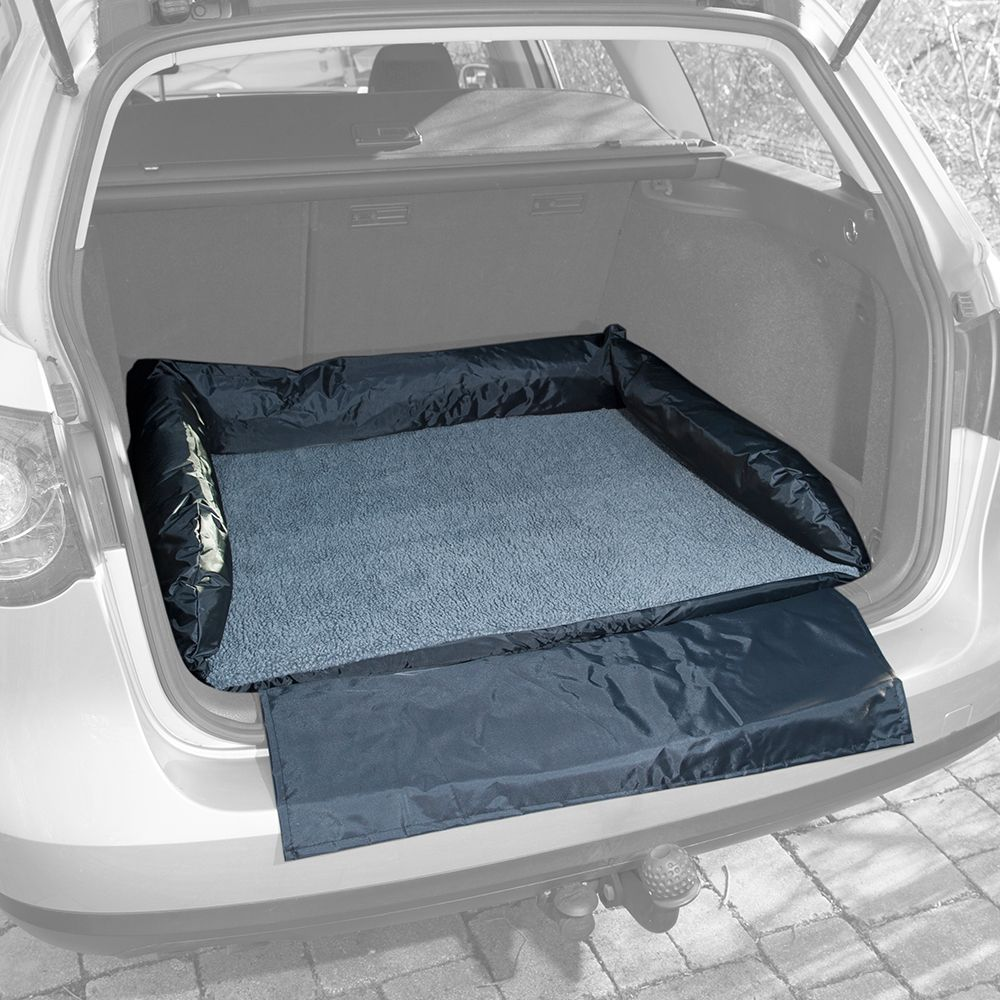 Autobett mit Stoßstangenschutz für Hunde