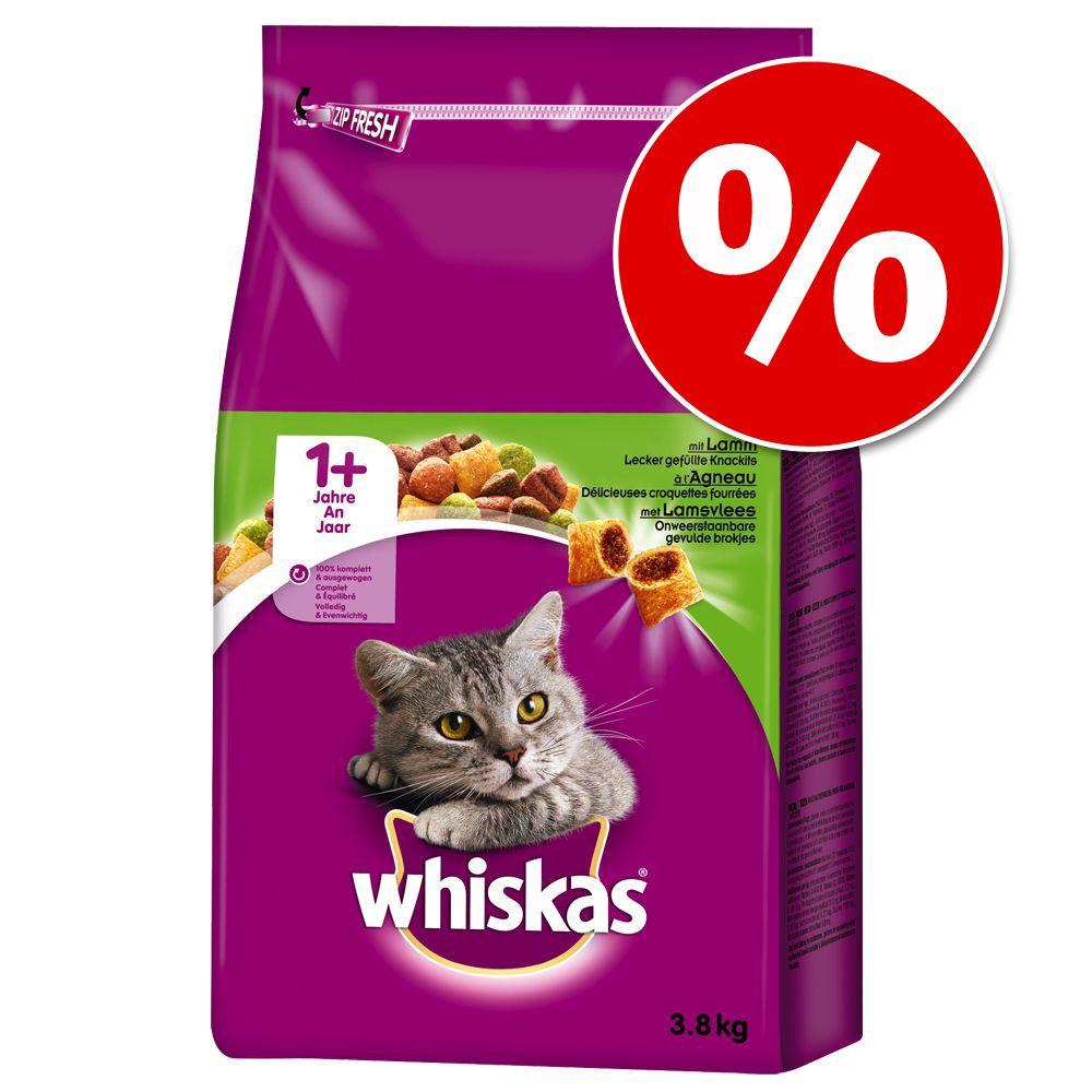 Ekonomipack: Whiskas torrfoder - 1+ Kyckling (2 x 3,8 kg)