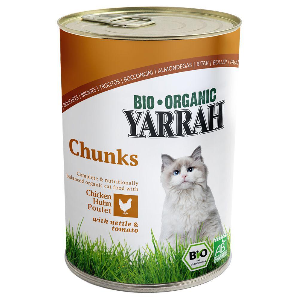 Sparpaket Yarrah Bio Chunks 24 x 405 g - Huhn m...
