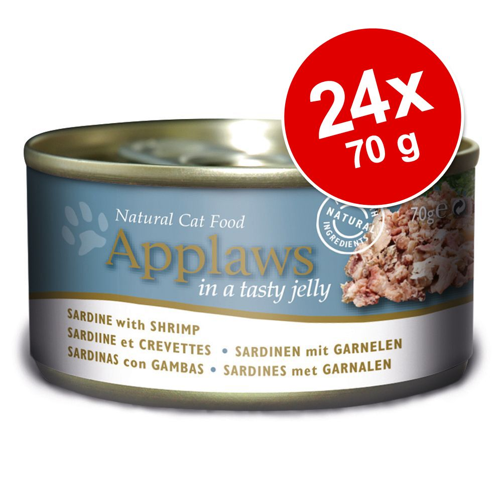 Ekonomipack: Applaws i gelé kattfoder 24 x 70 g - Tonfisk med havsalger