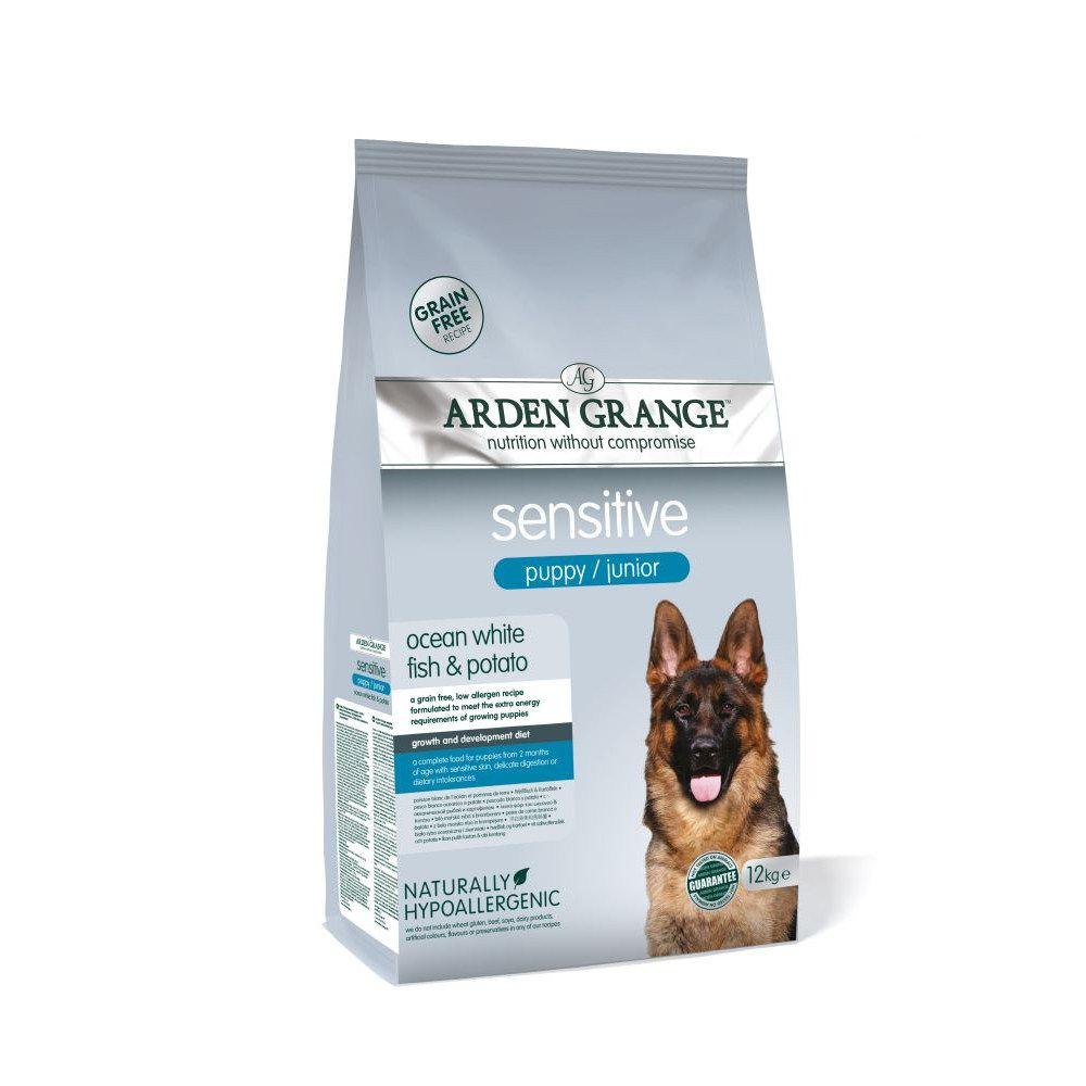 Arden Grange Sensitive Puppy/Junior - Grain-Free Ocean White Fish & Potato - 12kg