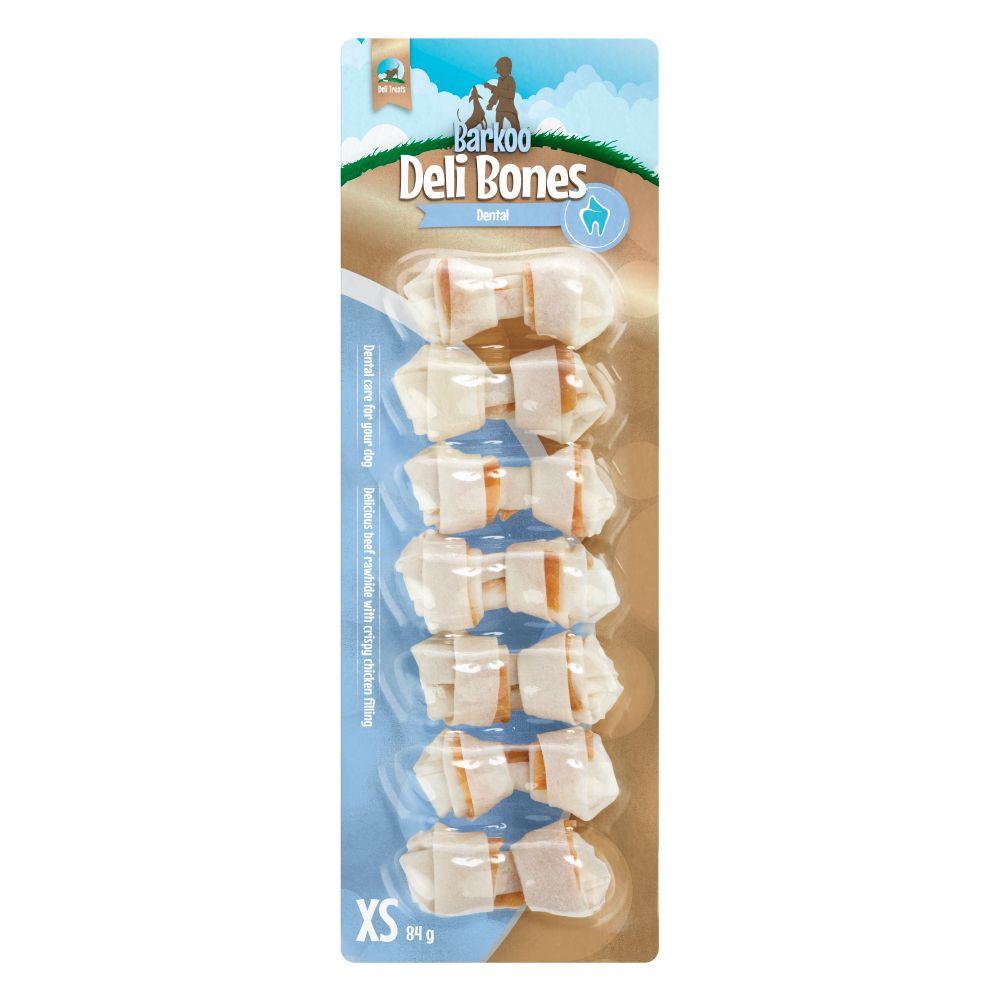Barkoo Deli Bones Dental geknotet - M, 3 St. je 14 cm (210 g)