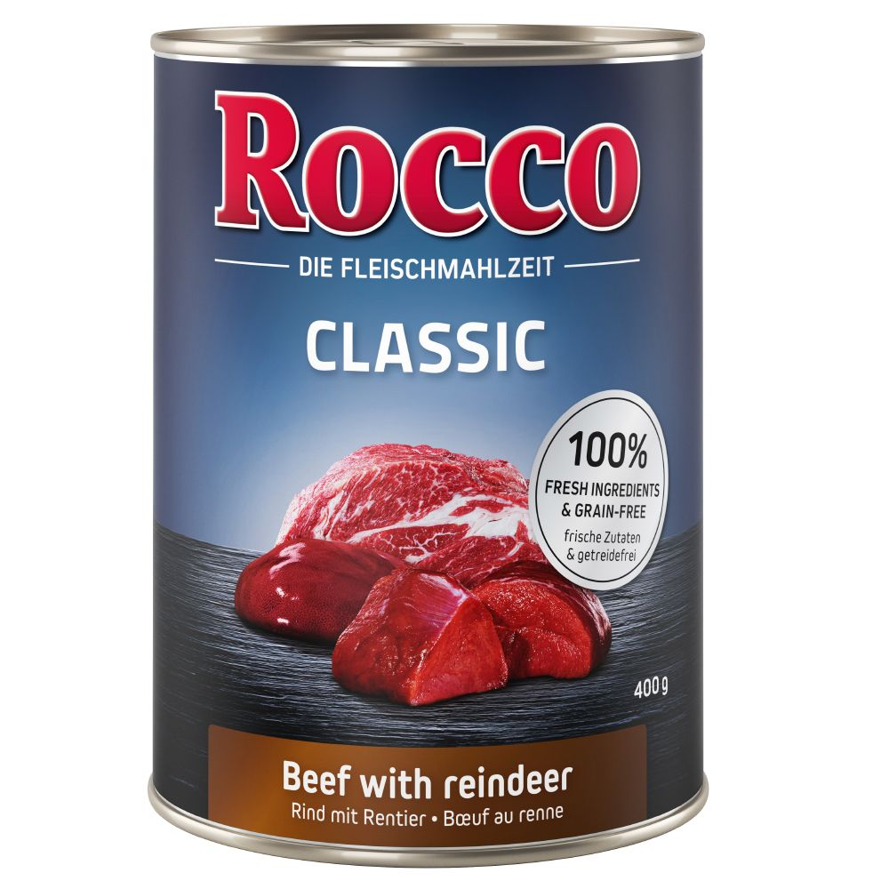 Beef with Salmon Classic Rocco Wet Dog Food