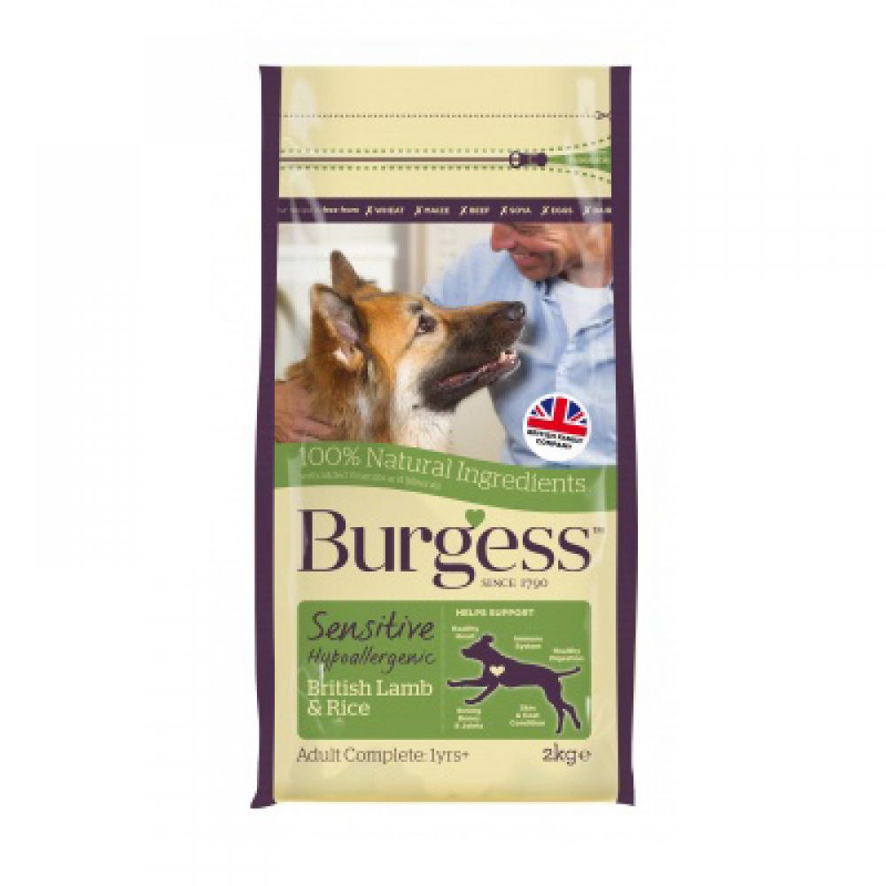 Burgess Sensitive Adult Dog Lamb & Rice