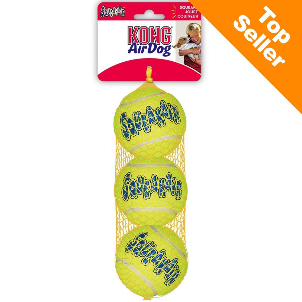 Image of KONG Palle da Tennis con Squeak - M: pacco da 3