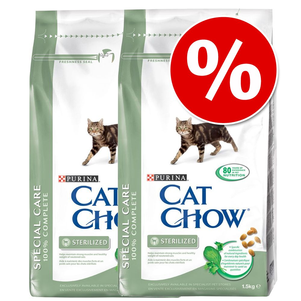 Ekonomipack: Cat Chow kattfoder 2 x 15 kg - Adult Special Care Hairball Control