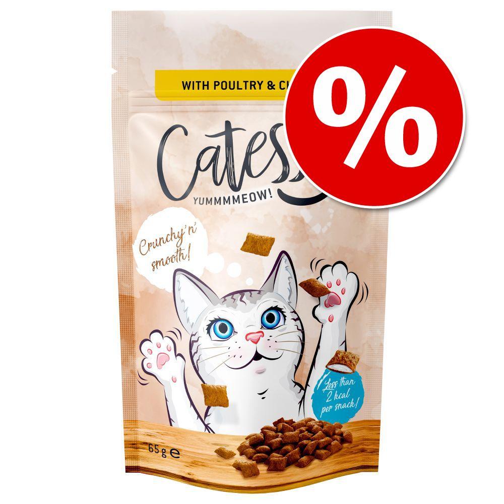 Stort ekonomipack: 15 x 65 g Catessy Knapersnacks - Nötkött & malt