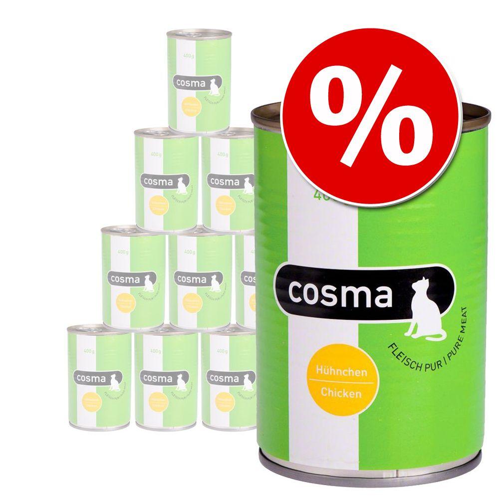 12 x 400 g Cosma Original och Cosma Thai till sparpris! - Original blandpack: Tonfisk & Sardiner