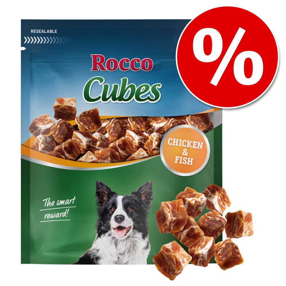 12x150g Cubes canard Rocco pour chien - Friandises pour Chien