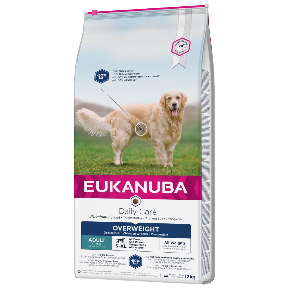 Eukanuba Daily Care Overweight Adult Dog - Economy Pack: 2 x 12kg