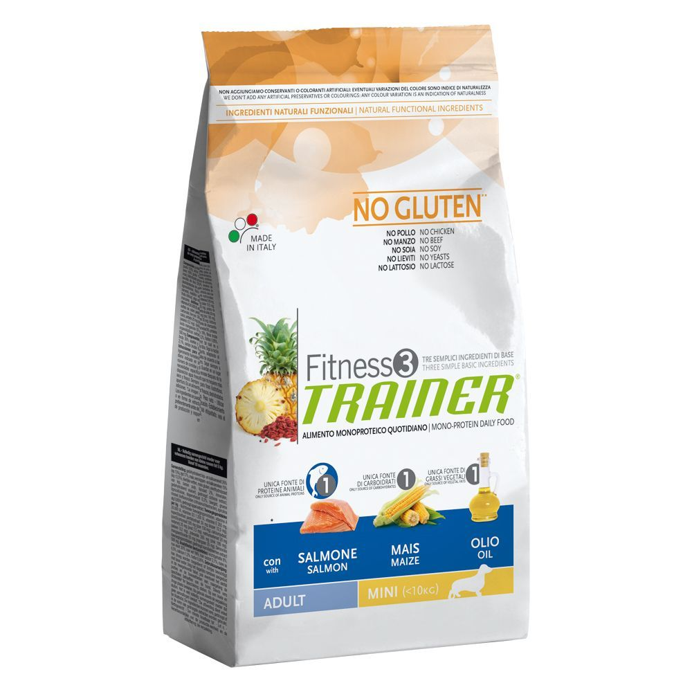 Foto Trainer Fitness 3 Adult Mini No Gluten Salmone & Mais - 2 x 7,5 kg - prezzo top! Trainer Fitness 3 - Size Mini