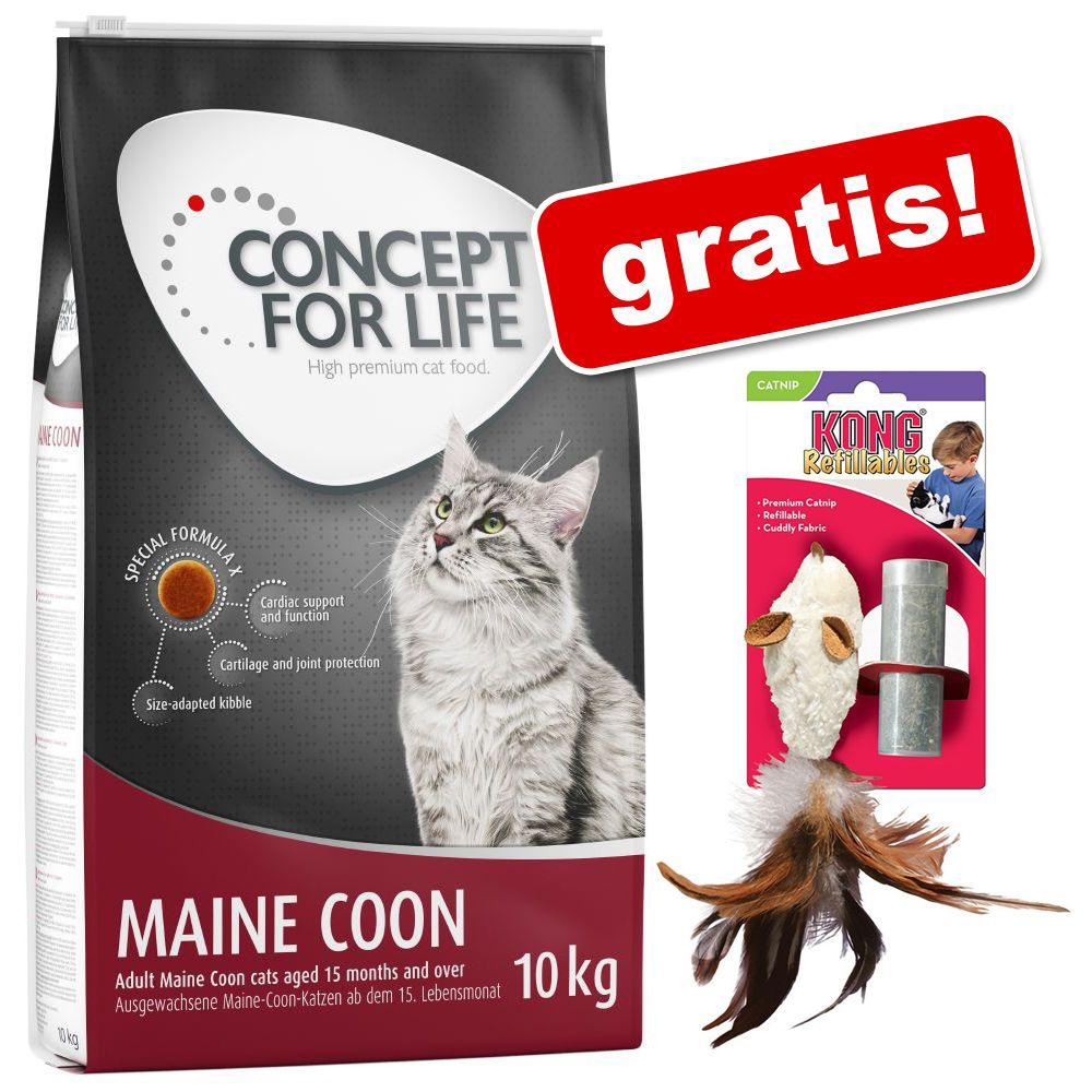 Stor påse Concept for Life torrfoder + Kong feather mouse på köpet! - Indoor Cats 10 kg