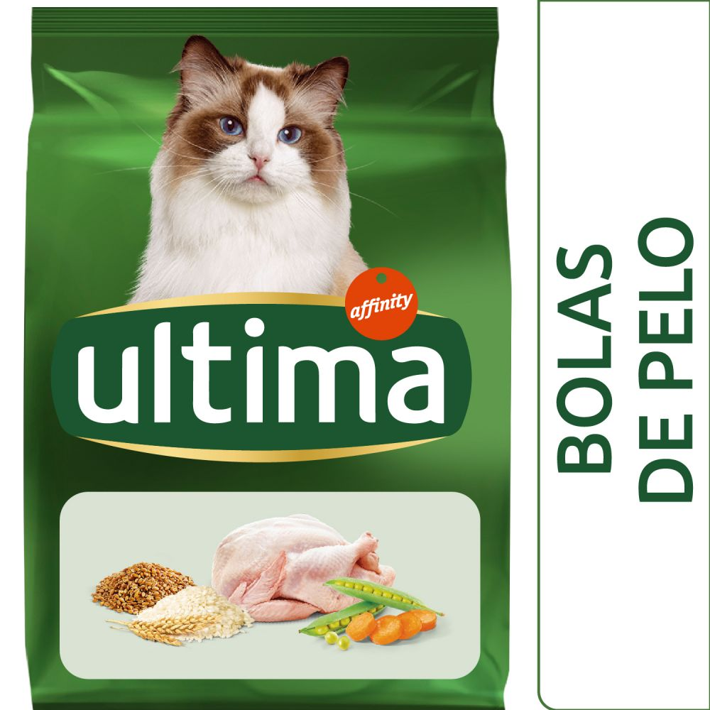 7,5kg Boules de Poils Ultima pour chat - Croquettes pour chat