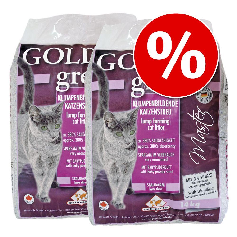 Ekonomipack: Golden Grey/Golden kattsand till sparpris! - Golden Pine (2 x 8 kg)