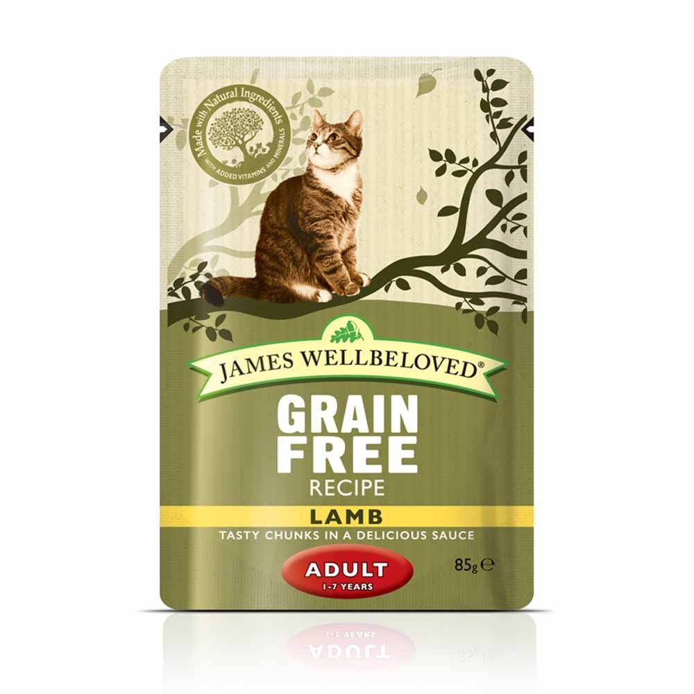 James Wellbeloved Cat Pouches Saver Pack 48 x 85g - Adult Lamb (48 x 85g)