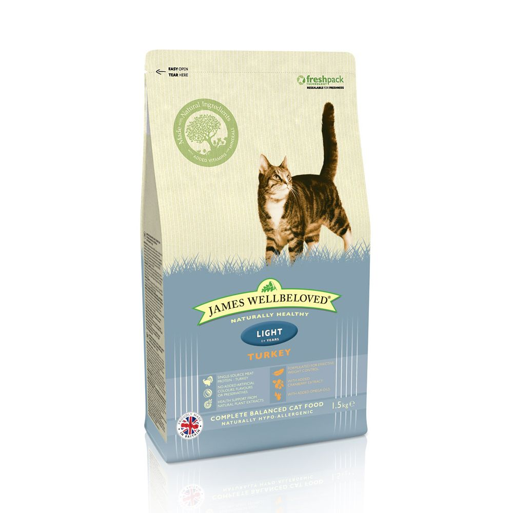James Wellbeloved Adult Cat Light - Turkey - Economy Pack: 2 x 1.5kg
