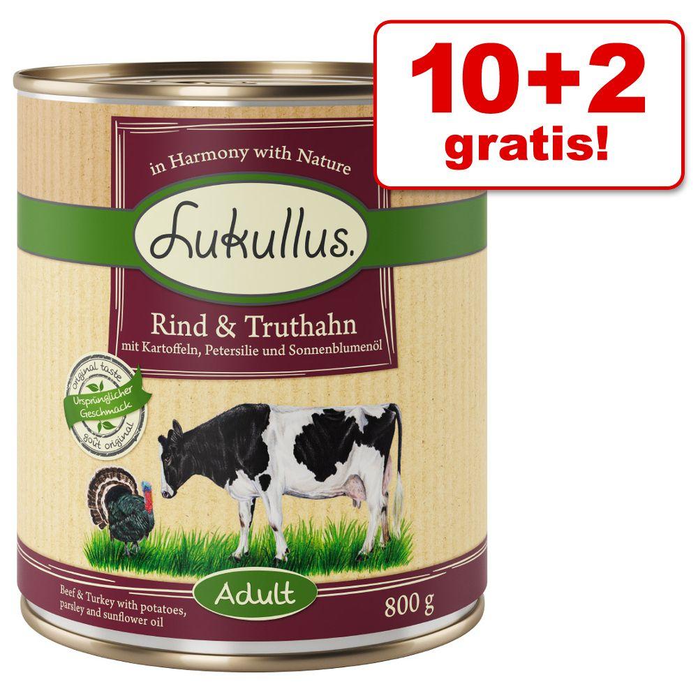 Lukullus Getreidefrei 10 + 2 gratis! 12 x 800g ...