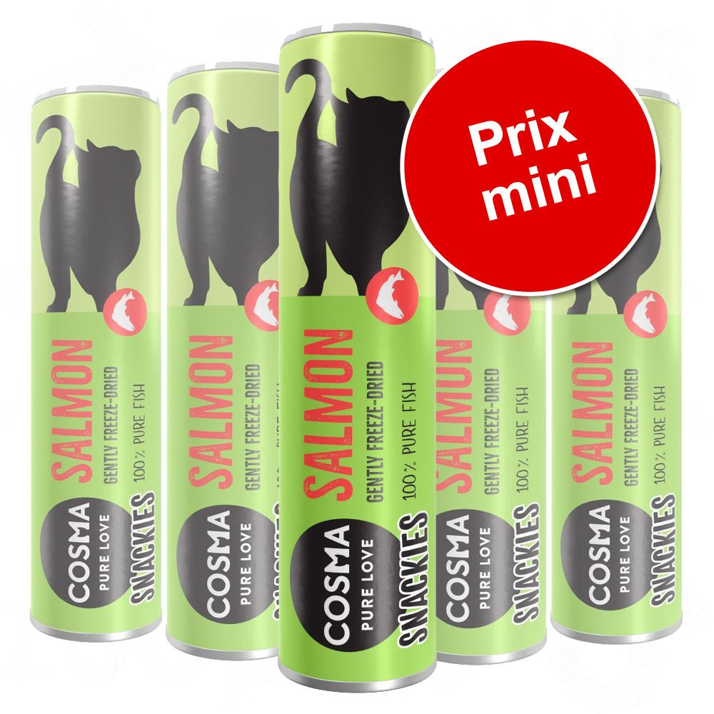 5x Cosma Snackies poulet 130g Friandises lyophilisées - Friandises pour Chat