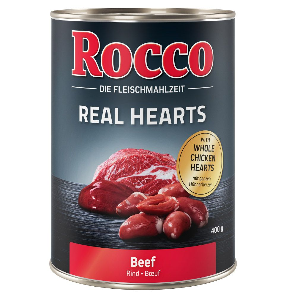 Rocco Real Hearts Beef with Whole Chicken Hearts Wet Dog Food