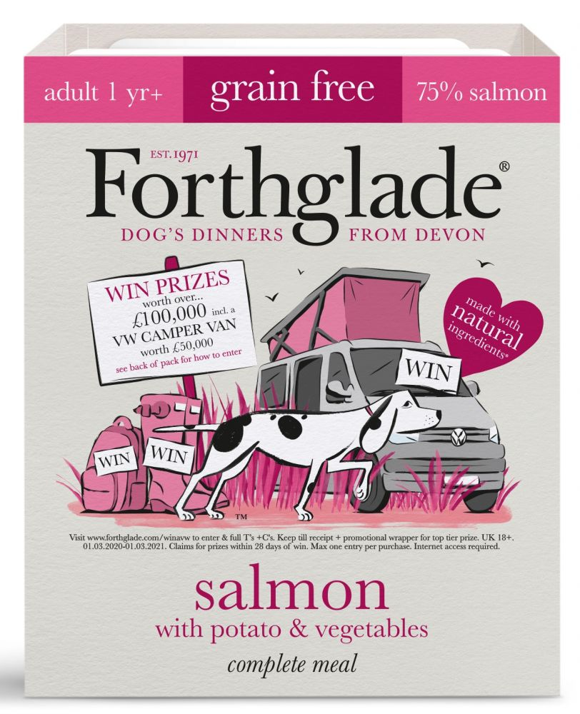 Forthglade Complete Meal Grain-Free Adult Salmon 36 x 395g