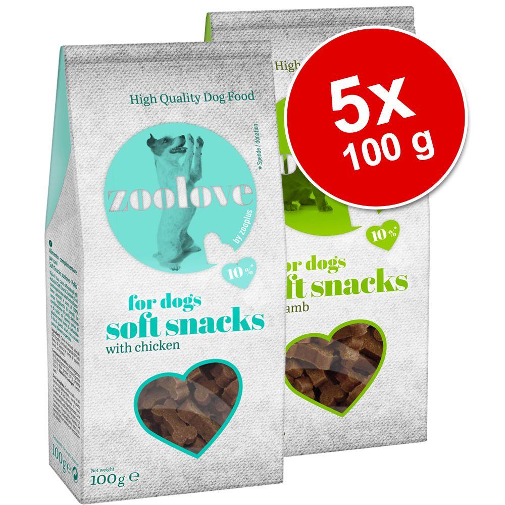 Ekonomipack: zoolove Soft Snacks 5 x 100 g – Lamm