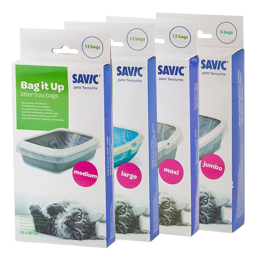 Savic Bag it Up Litter Tray Bags - Medium - 12 st