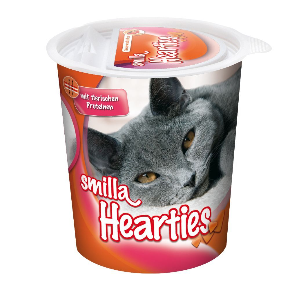 125g Smilla Hearties or Toothies Snacks - 2 + 1 Free!* - Smilla Toothies Cat Snacks (3 x 125g)