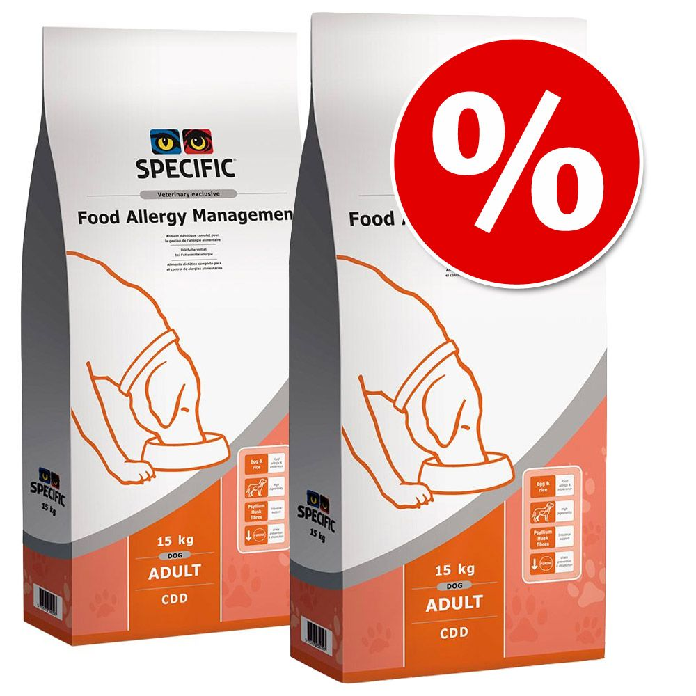 Ekonomipack: 2 påsar Specific Dog dietfoder - CDD - Food Allergy Management (2 x 15 kg)