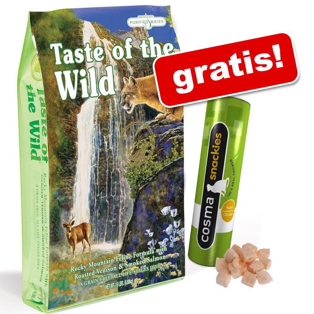 7 kg Taste of the Wild + Cosma Snackies Kyckling på köpet! – Rocky Mountain Feline