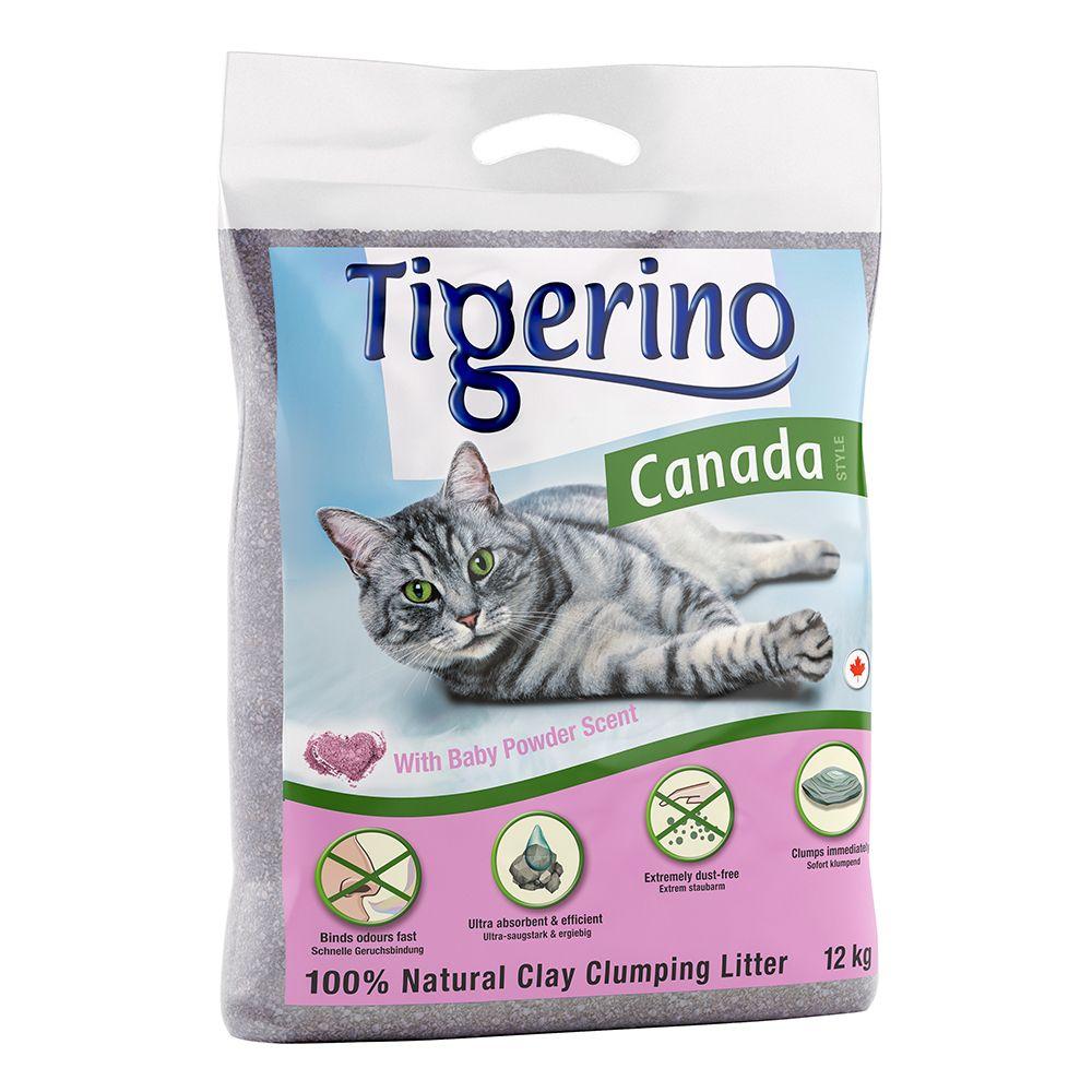 Litière 2x12kg Tigerino Canada senteur talc, pour chat
