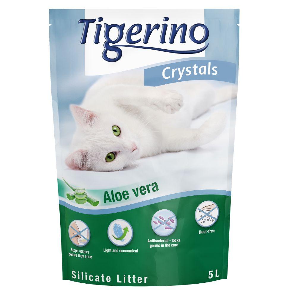 Tigerino Crystals Aloe Vera kattsand Ekonomipack: 6 x 5 l